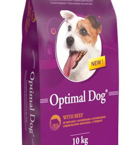 OPTIMAL DOG – WITH BEEF (MARHA) száraz kutyaeledel