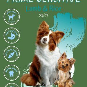 Prime Sensitive (Lamb & Rice) száraz kutyaeledel